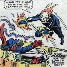 Tatterdemalion faces the wrath of Ghost Rider.