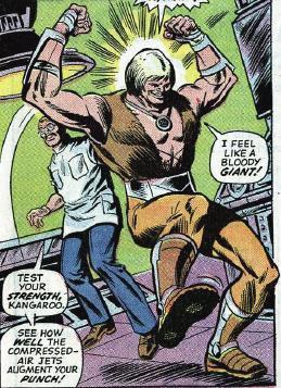 Dr. Harrow enhances the Kangaroo's abilities.