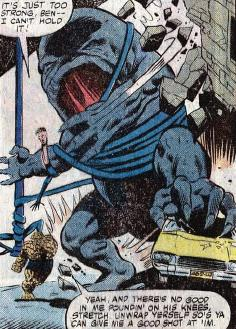 Mr. Fantastic and the Thing try to stop Giganto.