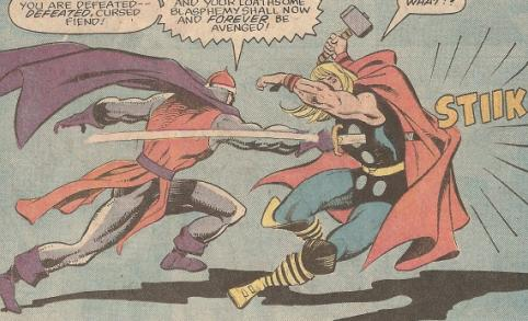 The Crusader inflicting some pain on Thor!!