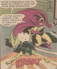 Grappler takes down the She-Hulk.