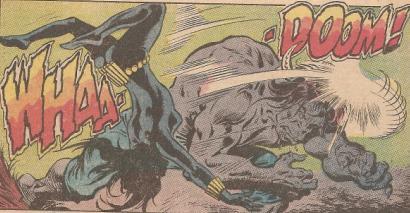 Man-Bull takes down the Black Widow.