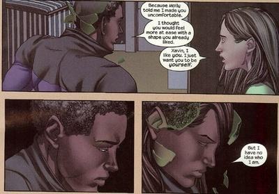 Xavin's struggle with identity