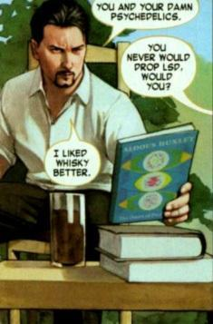 Tony Stark! Well if you count that as a beard..