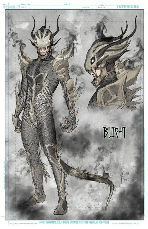 Blight design by Mikel Janin.