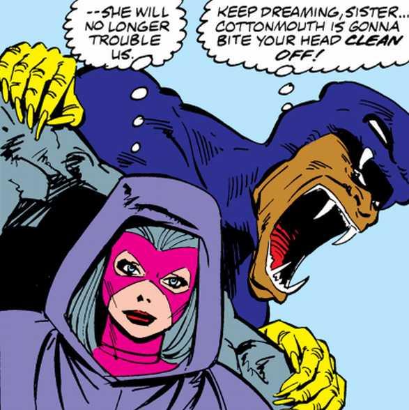 Cottonmouth attacking Psylocke.