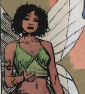 Angel's insectoid wings.
