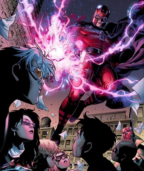 Magneto confronts the Young Avengers