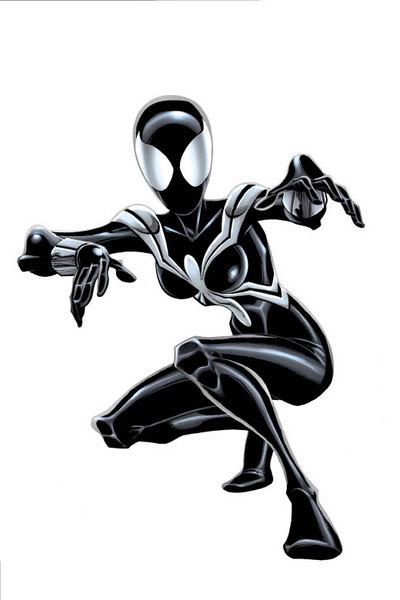 The Black Costumed Spider-Girl