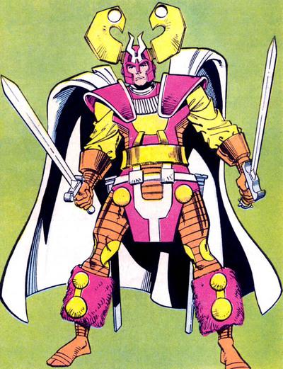 Balder in his battle armor