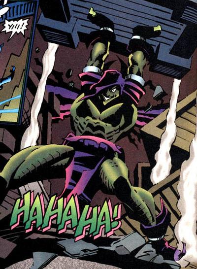 A heroic Green Goblin