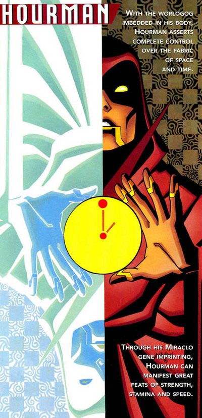 Hourman's entry from the JLA's Secret Files