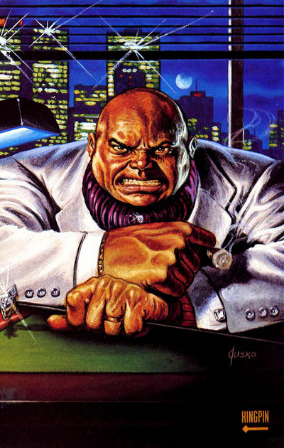 As a business man, Fisk mostly runs his criminal operation behind his desk hidden within his legit reputation among New York City.