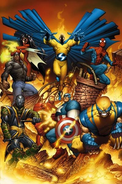 Tony helps Cap form the New Avengers.