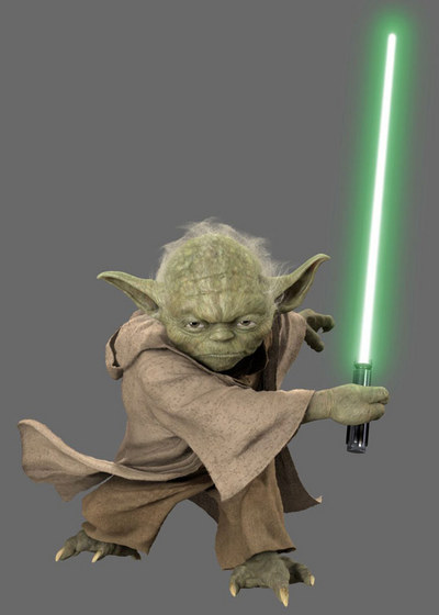 Yoda in Soul Calibur IV