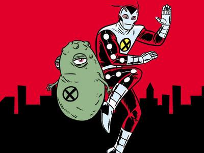 Doop with X-force member Mr. Sensitive