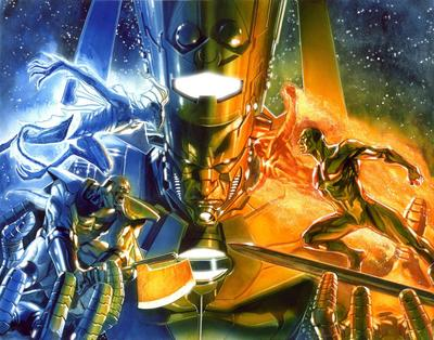 Terrax and the other Heralds of Galactus during Annihilation