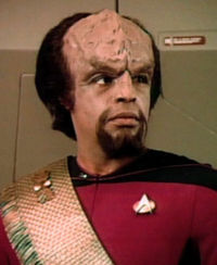 A Young Worf in Starfleet