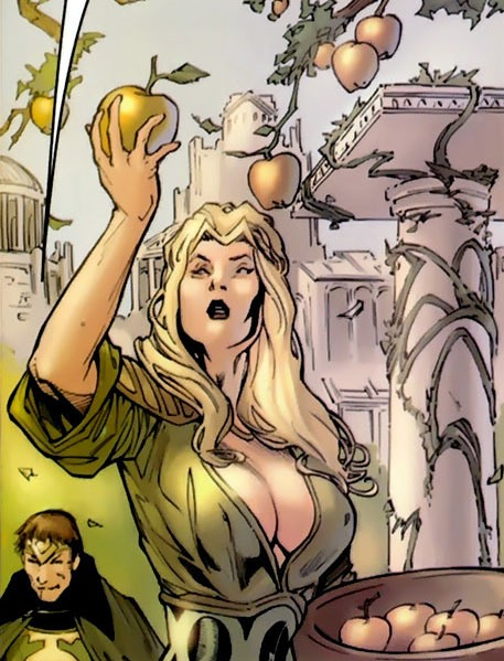 Amora with the Golden Apples of Idunn