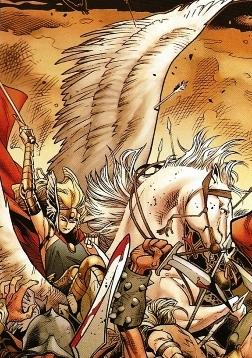 Valkyrie fighting at Ragnarok