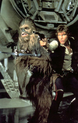 Han and his partner Chewbacca