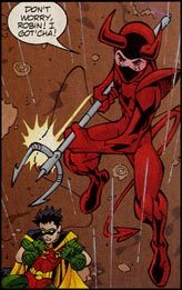 Kid Devil aiding Young Justice