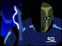 Slade appears as an hallucination.