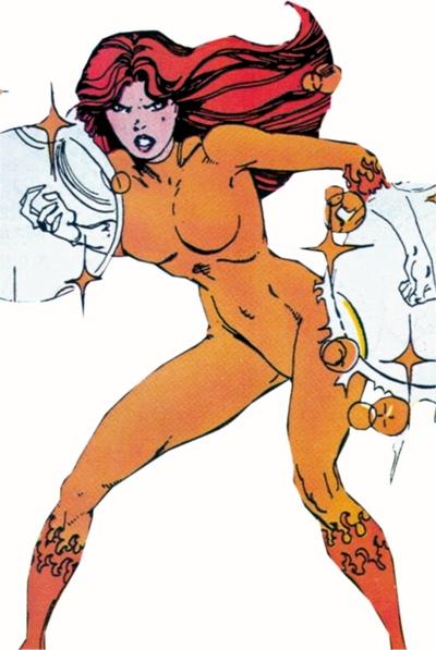 Firestar's original costume