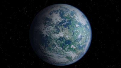 Princess Leia's home world Alderaan