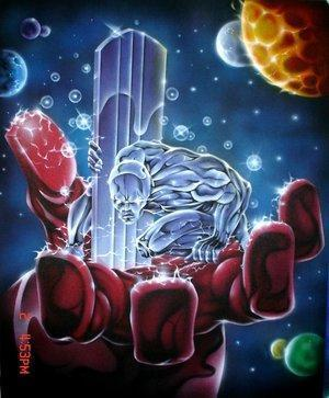 Norrin Radd, a herald of Galactus now known as the Silver Surfer.