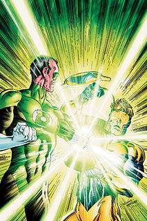 Sinestro fights Booster