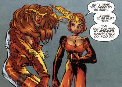 Copycat using her powers.
