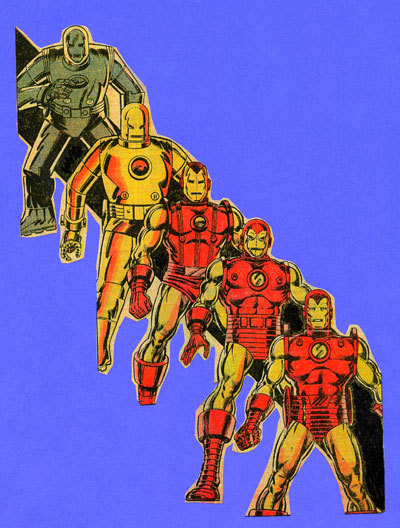 Many early Iron Man suits