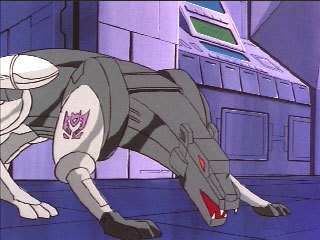 Sniffing out his prey in the Generation 1 cartoon