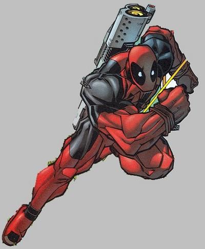 Deadpool running.