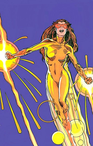 Firestar's powers in action.