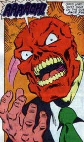 Red Skull's face now fully becomes the horror that he hid behind for so long.