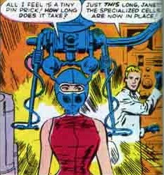 Pym turning Janet into the Wasp.