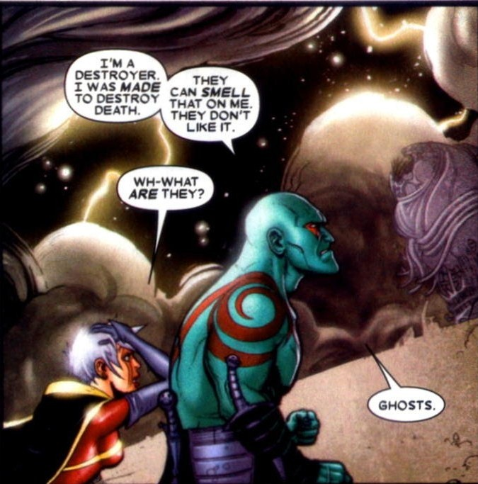 Drax and Phyla in Oblivion