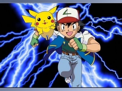 Ash and Pikachu from the Anime Series
