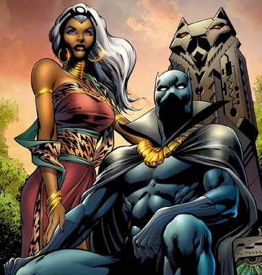 Storm and Black Panther- Rulers of Wakanda