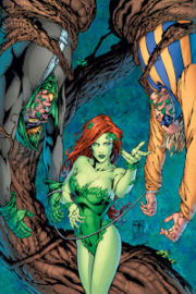 Ivy trapping some other villains