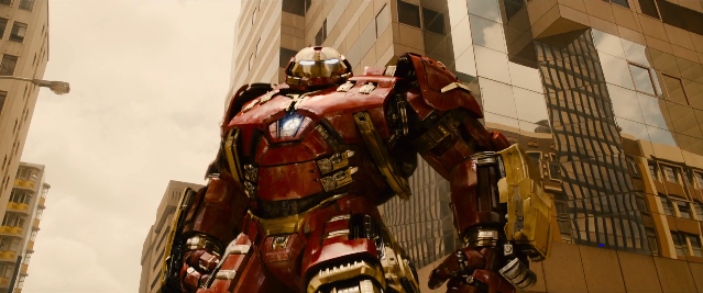 Nothing relevant. The Hulkbuster simply looks cool.