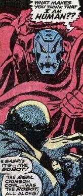 Crimson Cowl's identity revealed.