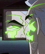 Derek's second skin peels away from his radioactive body