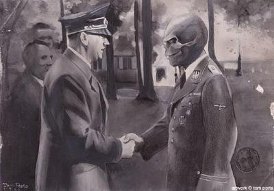 Hitler took great pride in the monster that he created, who was actually a dark version of Hitler himself that even Hitler feared.