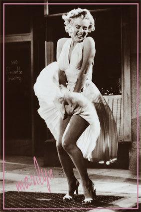 Iconic shot of Marilyn Monroe