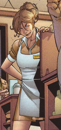 Sofia working as a New York Diner Waitress.