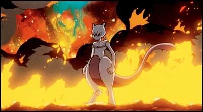 Mewtwo Reduces the Lab to Flames