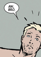 Seriously Bro, your naked and getting beat up by guys in track suits. Cap would be so proud.
